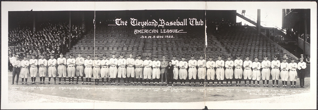 The Cleveland baseball club, American League, season 1922