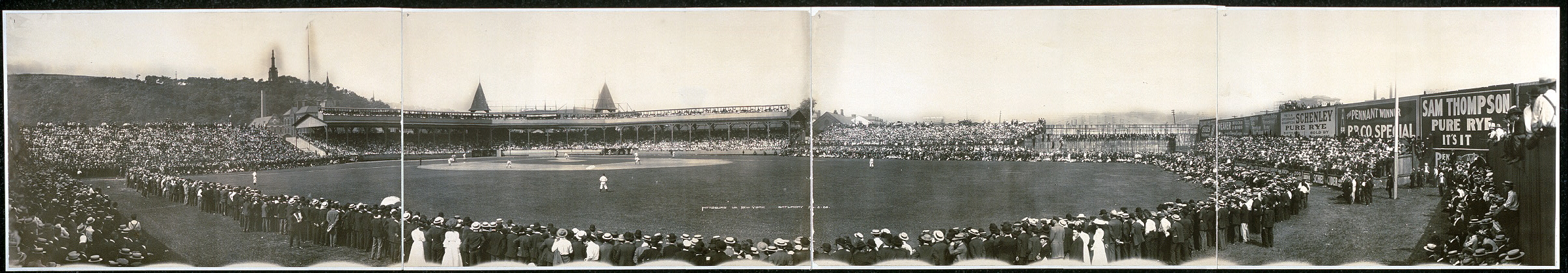 Pittsburg vs. New York, Saturday, Aug. 5, 1905