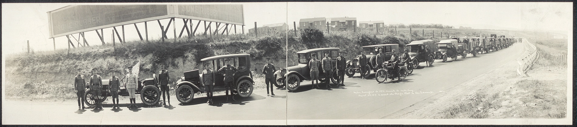 Motor Transport Co. 554 enroute to Santa Cruz, August 29, 1919 to escort the Pacific fleet to San Francisco