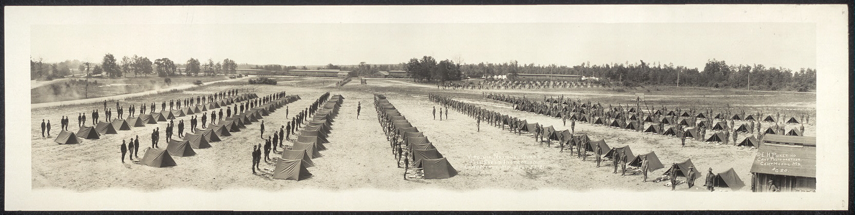 Virginia National Guard, full field inspection, Camp Meade, Md., July 23, '21