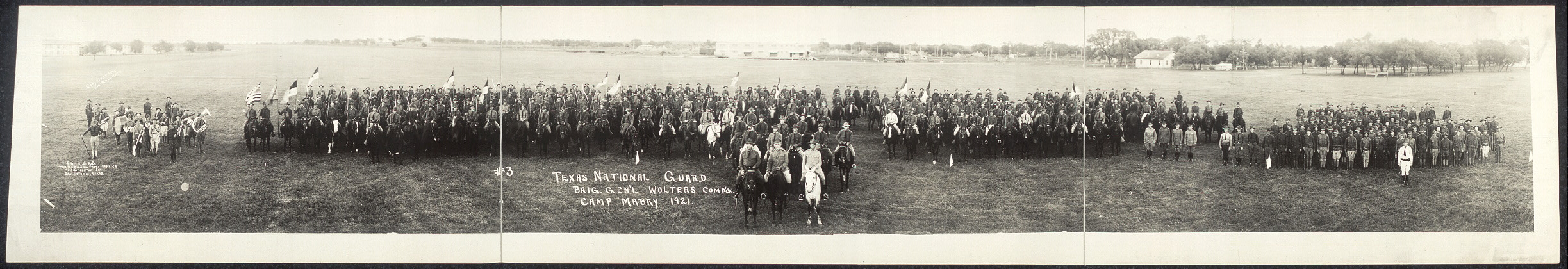 Texas National Guard, Brig. Gen'l. Wolters Com'd'g., Camp Mabry, 1921