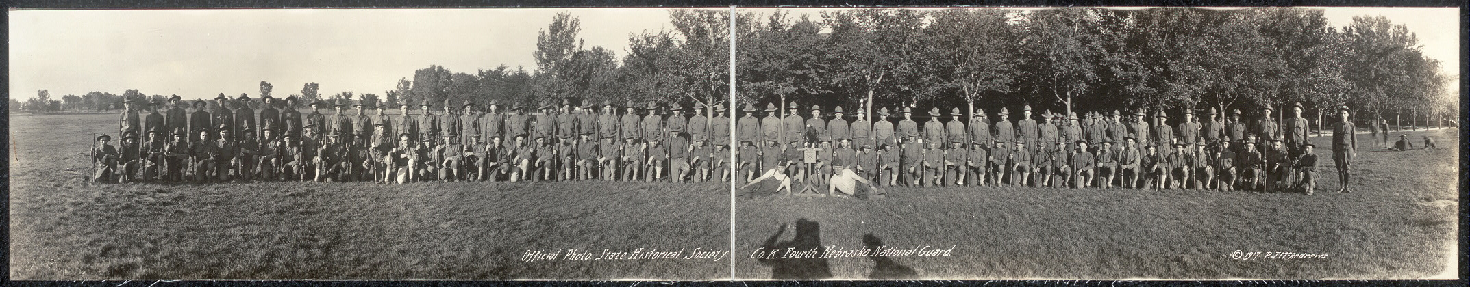 Official photo, State Historical Society, Co. K, Fourth Nebraska National Guard