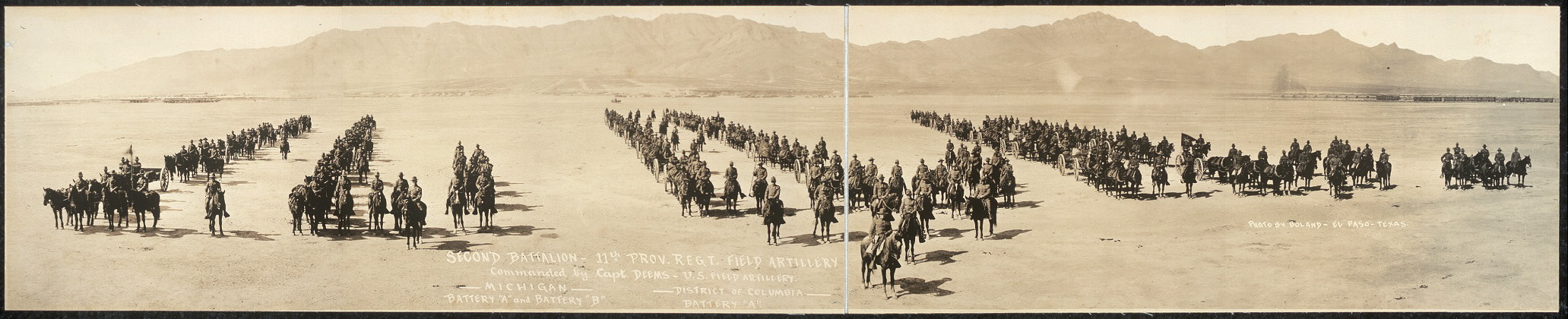 Second Battalion, 11th Prov. Regt. Field Artillery, commanded by Capt. Deens, U.S. Field Artillery