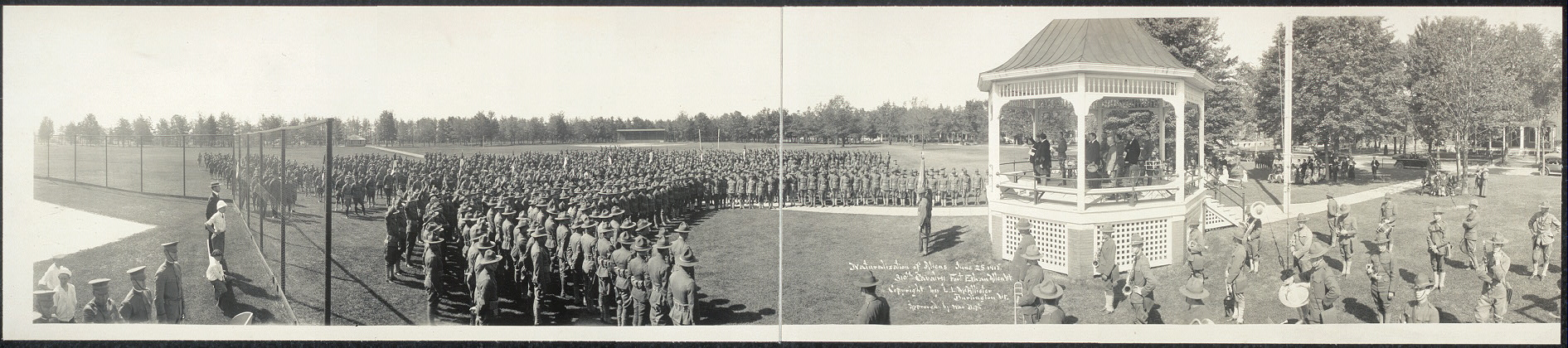 Naturalization of aliens, June 25, 1918, 310th Cavalry, Fort Ethan Allen, Vt.
