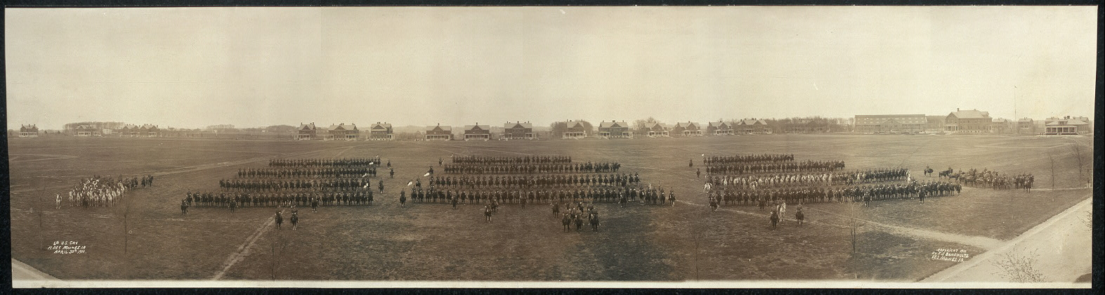 6th U.S. Cav., Ft. Des Moines, Ia., April 30th, 1910