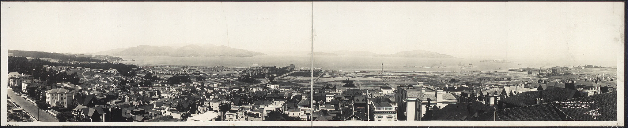 Fort Winfield Scott; Presidio and Fort Mason overlooking San Francisco Bay