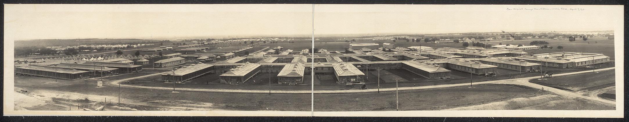 Panoramic view, Base Hospital, Camp MacArthur, Waco, Texas, April 9th, 1918