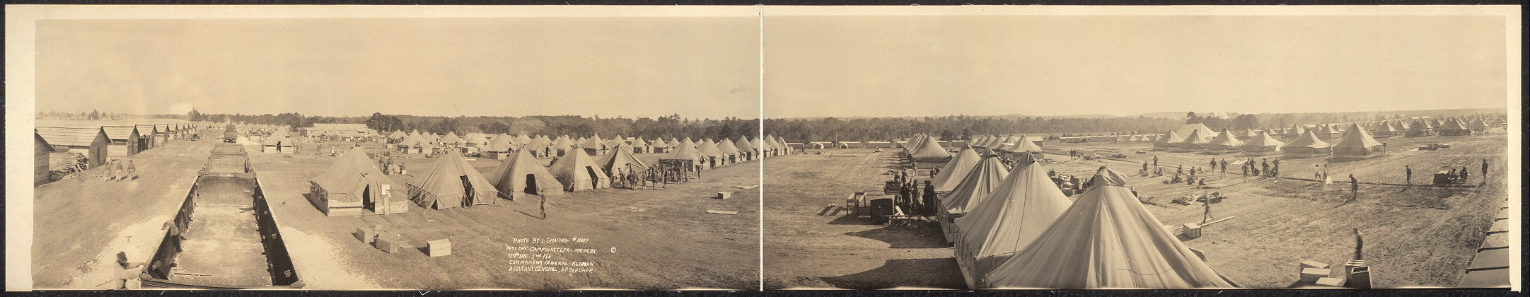 """Busy Day"", Camp Wheeler, Macon, Ga., 124th Inf., 2nd Fla.; Commanding General Kernan; Adjutant General A. P. Gardner"