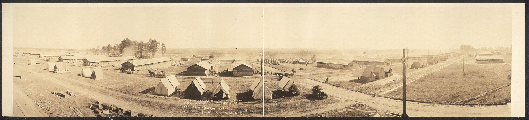 Artillery Hill, Camp Wheeler, Macon, Ga.; Commanding General, Kernan; Adjutant General, A. P. Gardner