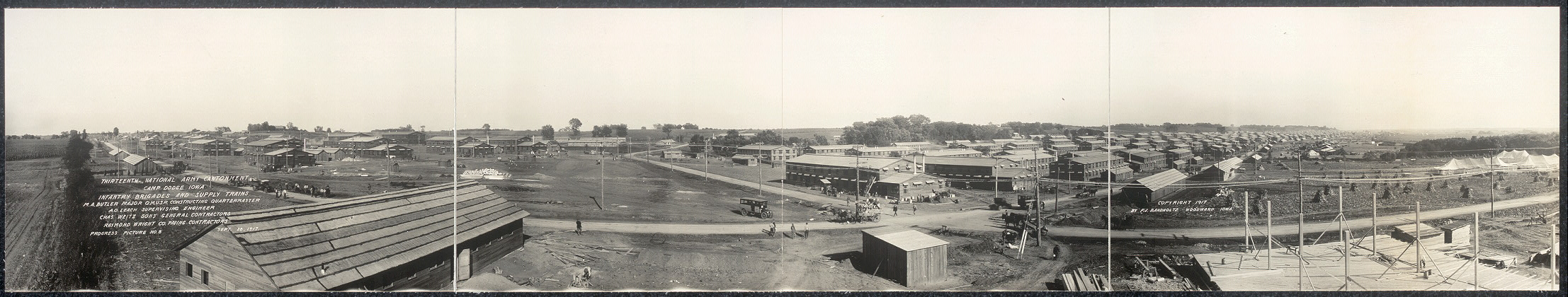 Thirteenth National Army Cantonment, Camp Dodge, Iowa, Infantry Brigades and Supply Trains