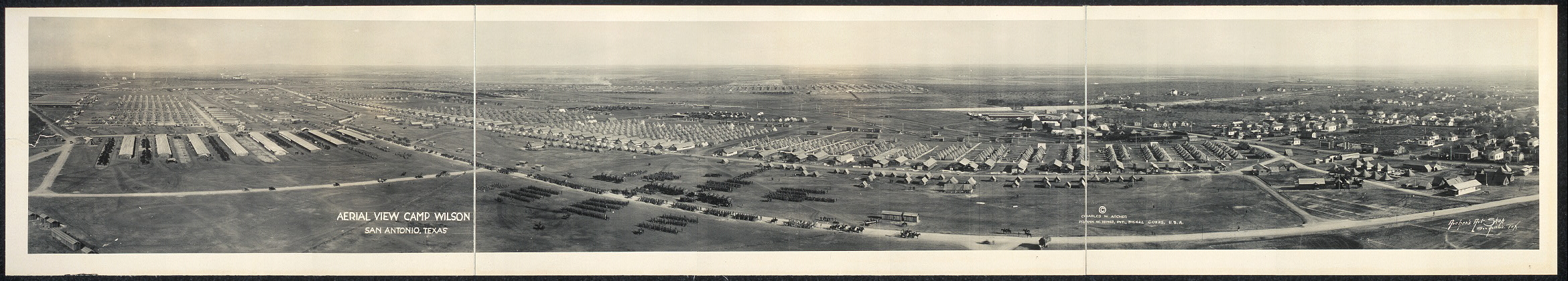 Aerial view, Camp Wilson, San Antonio, Texas