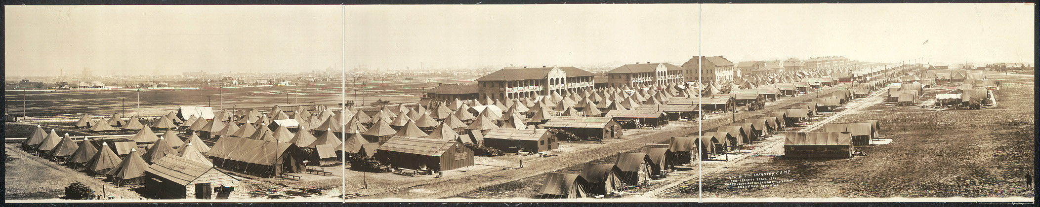 4th & 7th Infantry Camp, Fort Crockett, Tesas [sic], 1914
