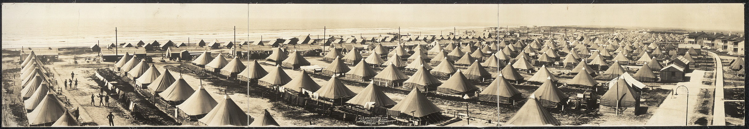 19th & 28th Infantry Camp, Fort Crockett, Texas, 1914
