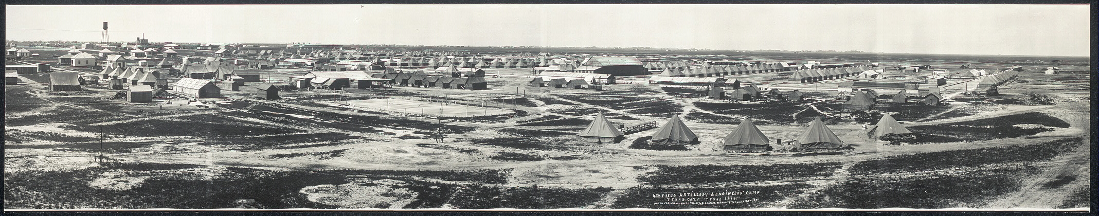 4th Field Artillery & Engineers Camp, Texas City, Texas, 1914