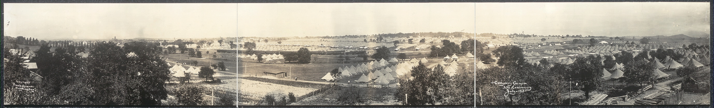 Gettysburg Camp, 50th Anniversary, July, 1913