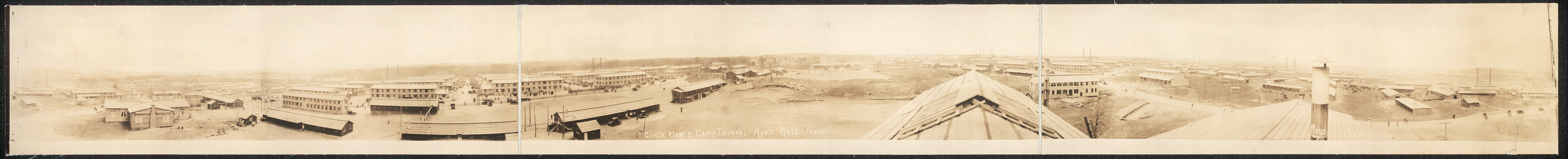 Circle view of Camp Devens, Ayer, Mass.