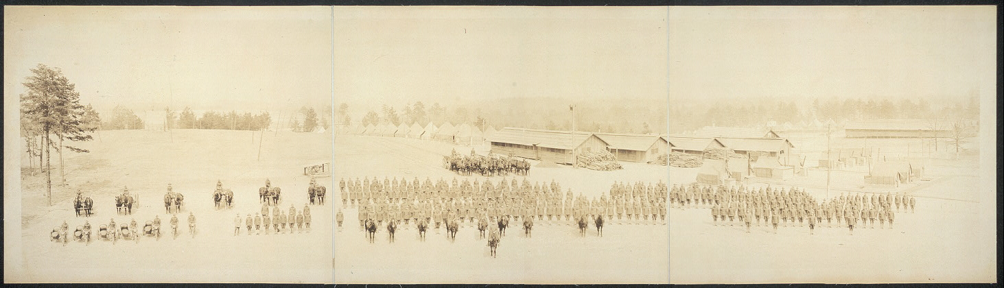 105th Field Signal Battalion, Major S.C. Van Deuse, commanding, Camp Sevier, S.C., March 1st, 1918