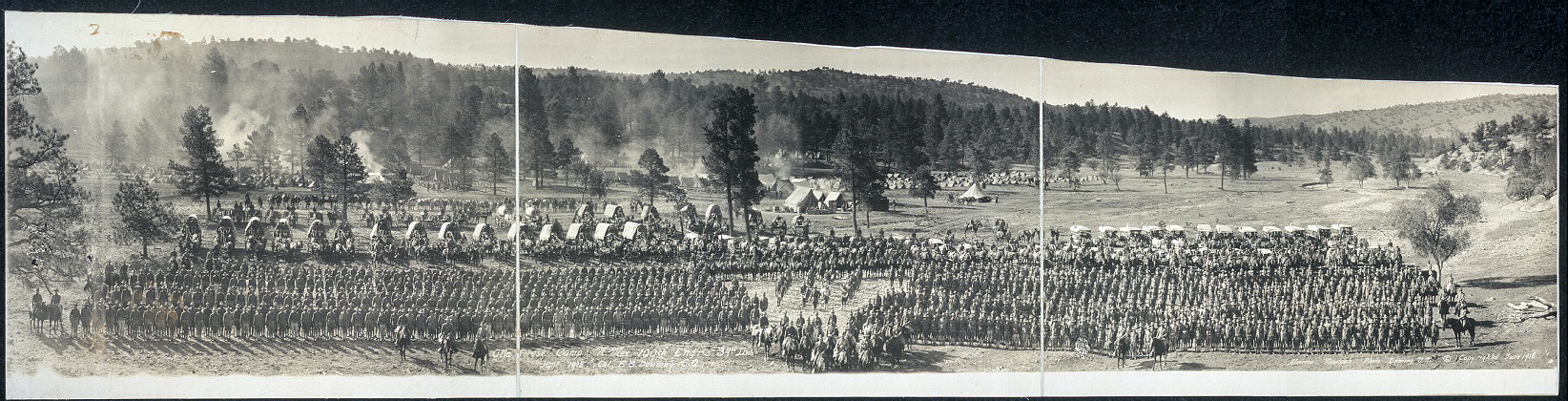 Gila Forest Camp, N. Mex., 109th Engr's., 34th Div., June 1918, Col. F. E. Downing, C.O.
