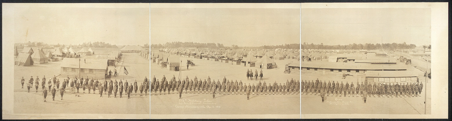 112th Military Police, Col. Tom O. Crossan, commanding, Camp Sheridan, Ala., Ap. 12, 1918