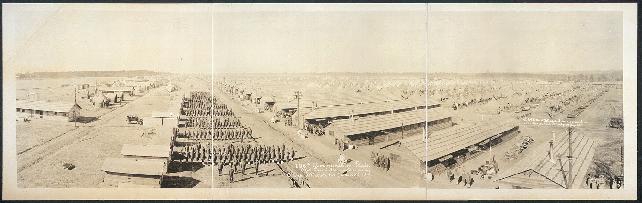 106th Ammunition Train, Lt. Col. Paul O. Franson, commanding, Camp Wheeler, Ga., Jan. 25th, 1918