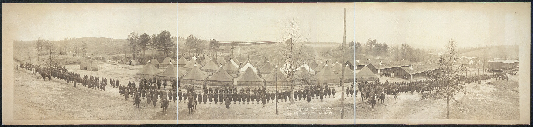 110th Machine Gun Battalion, Major J.H. Washburn, commanding, Camp McClellan, Ala., Feb. 18th, 1918
