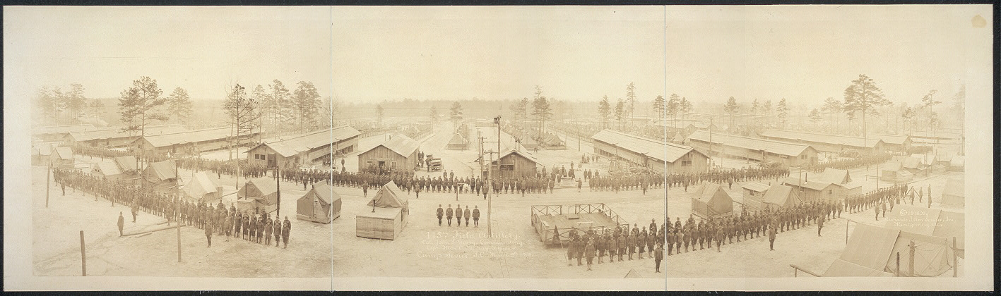115th Field Artillery, Col. John T. Geary, commanding; Capt. Max C. McKay, adjudant [sic], Camp Sevier, S.C., March 9th, 1918