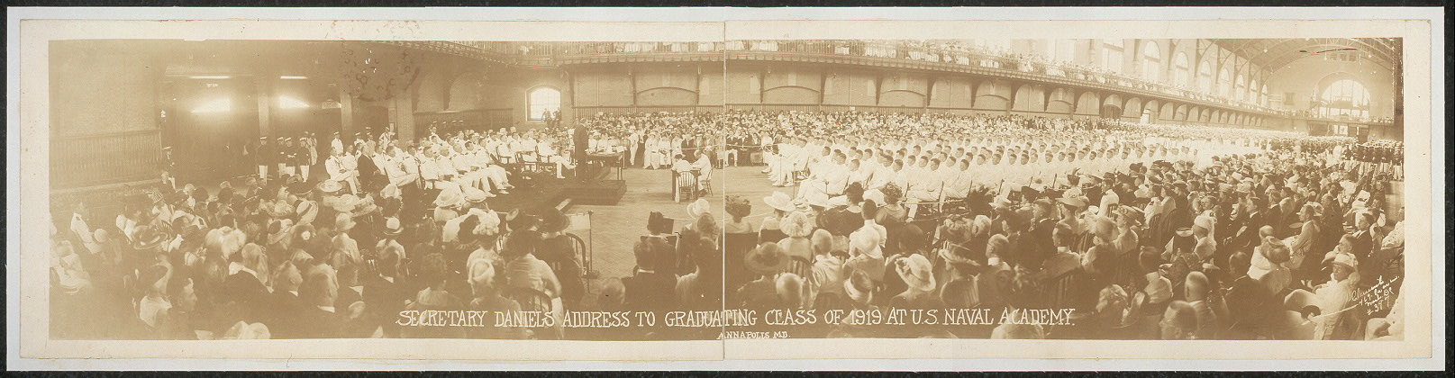Secretary Daniels address to graduating class of 1919 at U.S. Naval Academy, Annapolis, Md.
