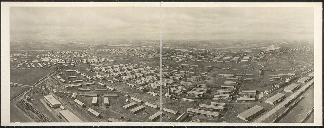 Aerial view, Camp Grant, Ill., 1000 ft. elevation