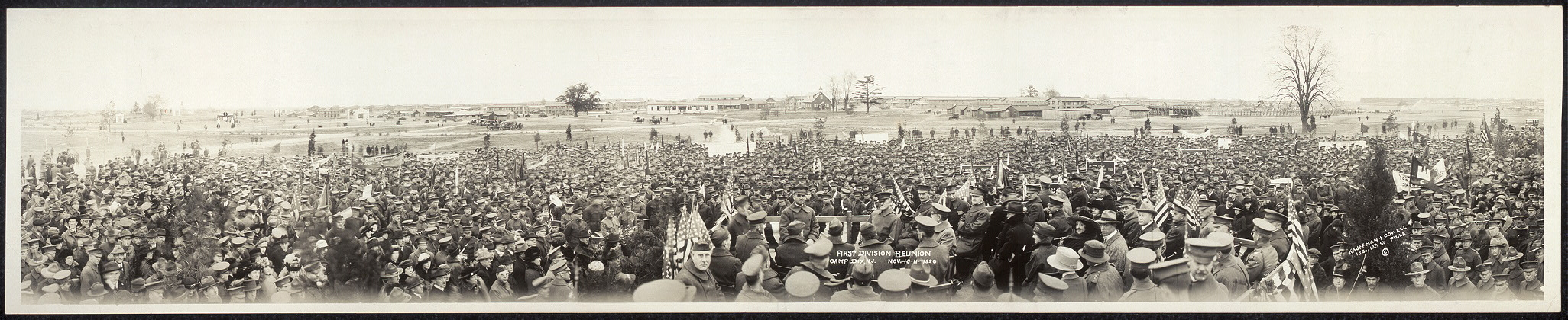 First Division reunion, Camp Dix, N.J., Nov. 10-11, 1920
