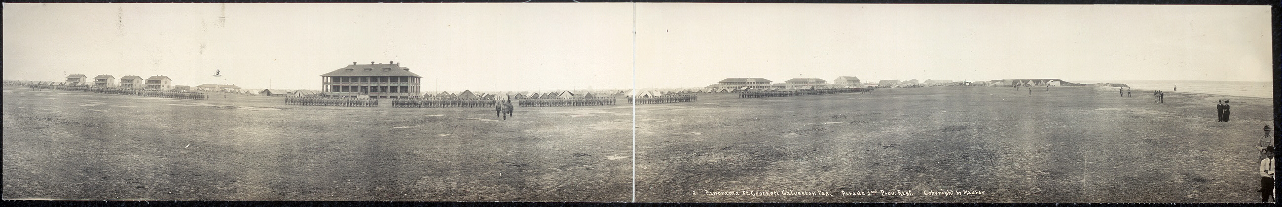 Panorama, Ft. Crockett, Galveston, Tex., parade 2nd Prov. Regt.