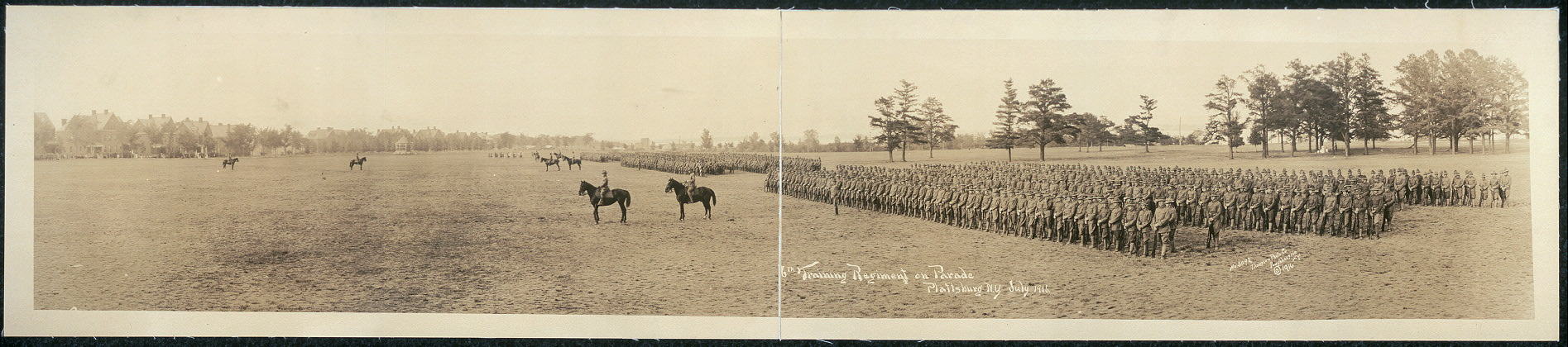 6th Training Regiment on parade, Plattsburg [sic], N.Y., July 1916