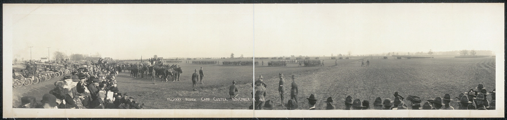 Military review, Camp Custer, November 9, 1917