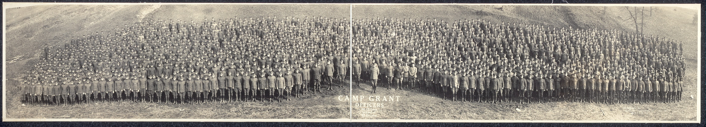 Camp Grant officers, 86 Division and part of 92 Division