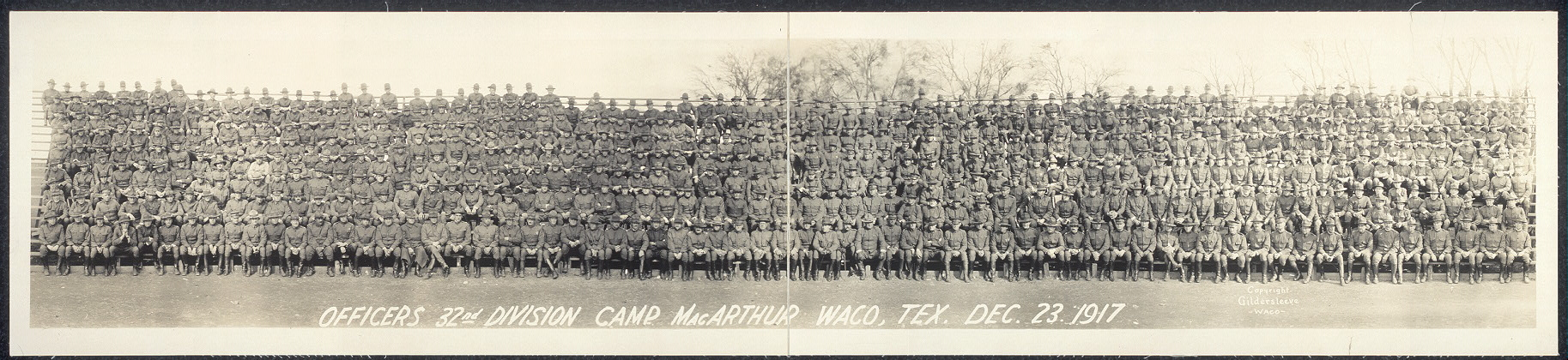 Officers, 32nd Division, Camp MacArthur, Waco, Tex., Dec. 23, 1917