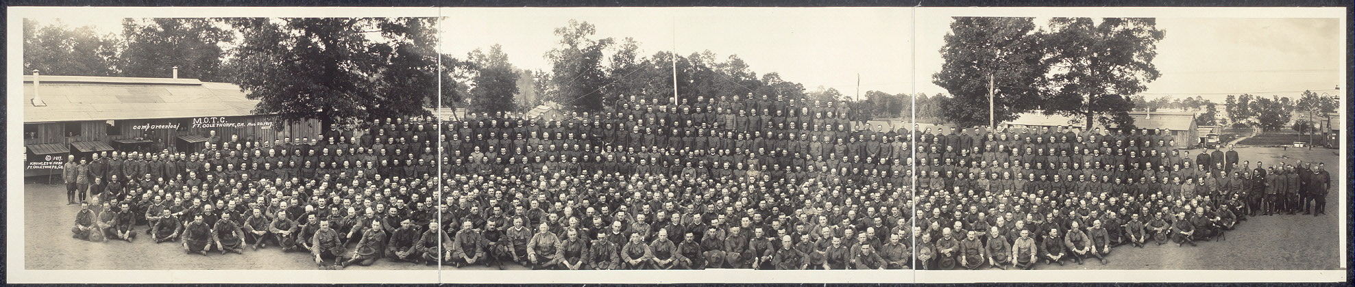 Camp Greenleaf, M.O.T.C., Ft. Oglethorpe, Ga., Aug. 27, 1917