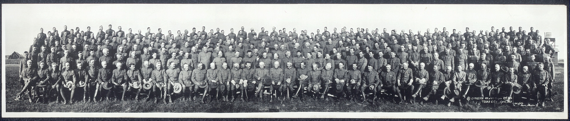 Officers, 4th and 6th Brigade, 2nd Div., Texas City, April 1913