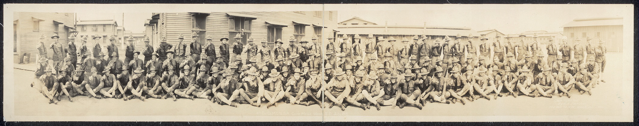4th Co., Q.M.C.U.S.A., Camp Meigs, Wash., D.C., July 1918