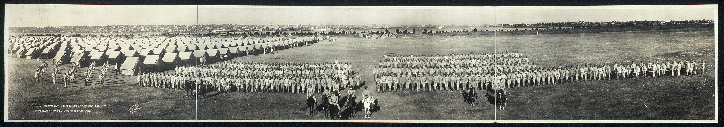 Fourth Regiment U.S.M.C., North Island, Cal., 1914, commanded by Col. Joseph H. Pedleton