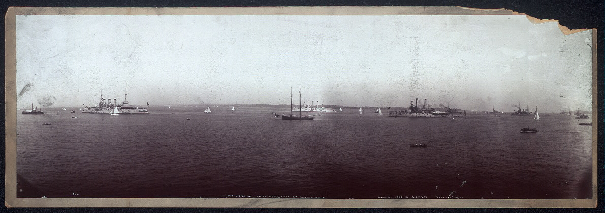 The victorious United States fleet off Tompkinsville, S.I.