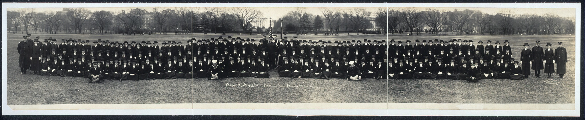 Yeoman (F) Navy Dep't., White House grounds, Washington, D.C., Feby. 1919