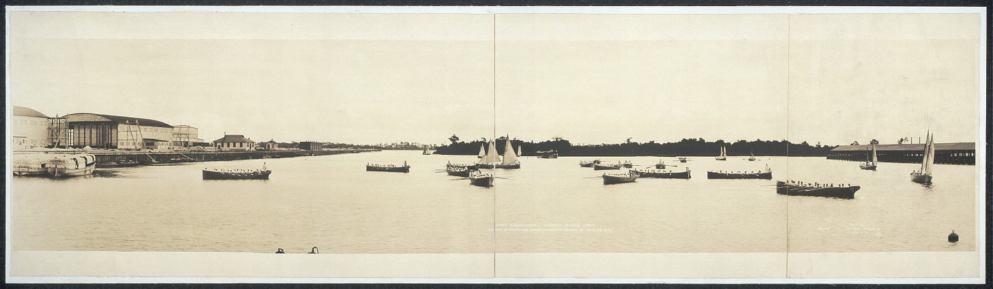 Boat exercises, summer school camp, Naval Operating Base, Hampton Roads, Va., Aug. 26, 1920