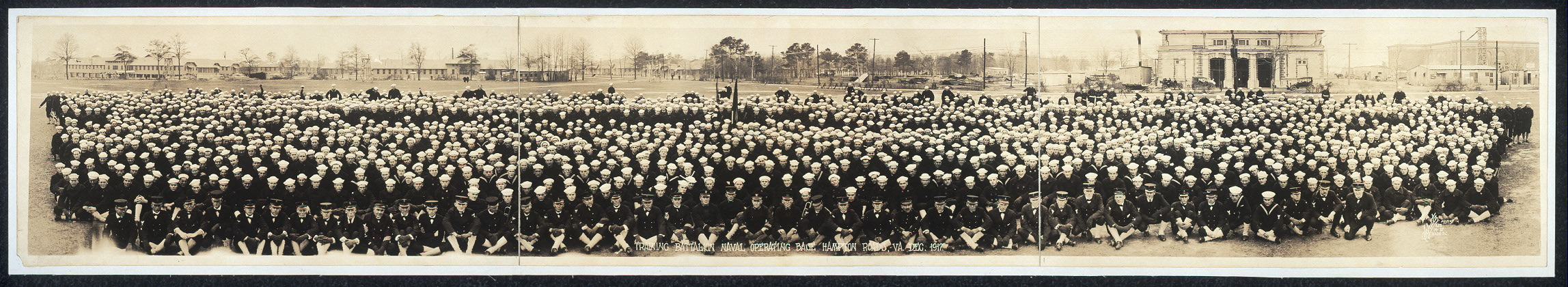 Training battalion, Naval Operating Base, Hampton Roads, Va., Dec. 1917