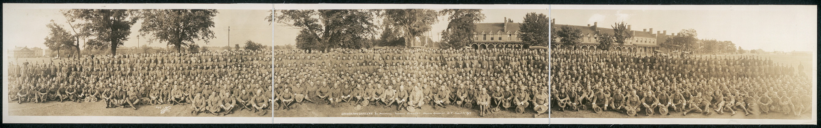 Graduating officers, 3rd Provisional Training Regiment, Madison Barracks, N.Y., August 14, 1917