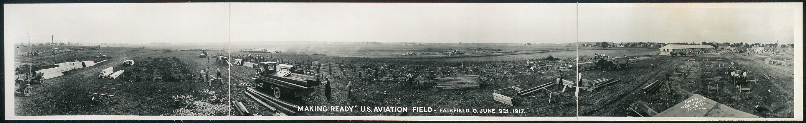 """Making ready"", U.S. Aviation Field, Fairfield, O., June 9th, 1917"
