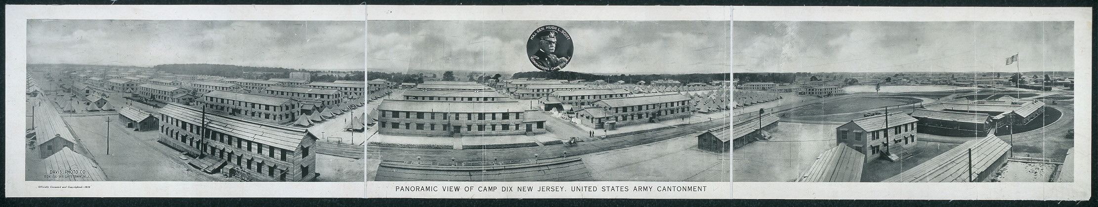 Panoramic view of Camp Dix, New Jersey, United States Army Cantonment