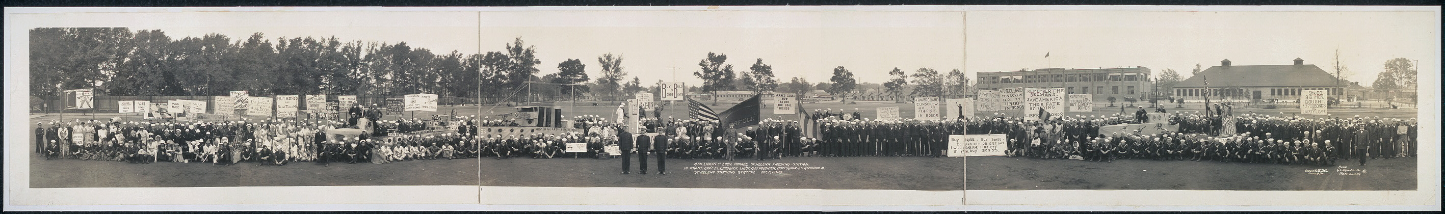 4th Liberty Loan parade, St. Helena Training Station