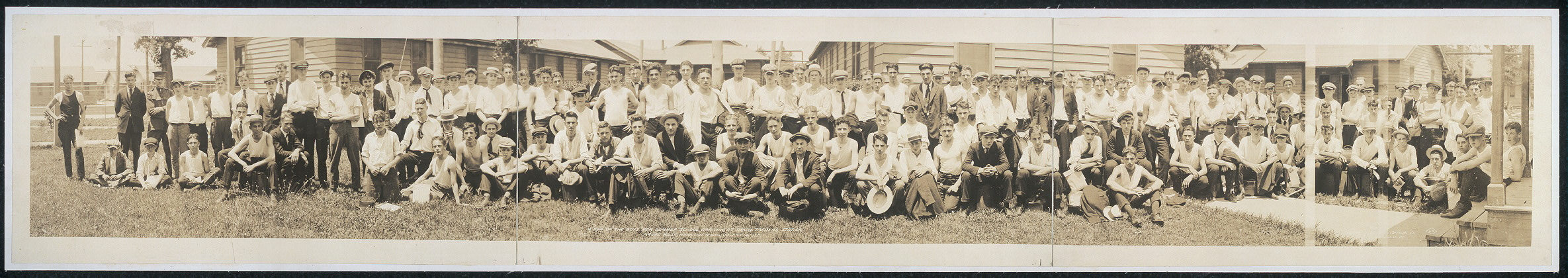 A few of the boys for summer school, arriving at Naval Training Station, Naval Base, Hampton Roads, Va., July 14, 1920