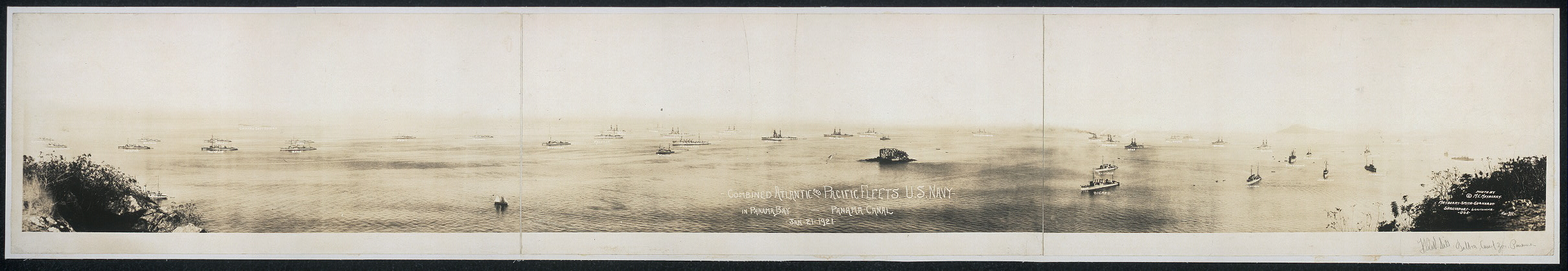 Combined Atlantic and Pacific fleets, U.S. Navy in Panama Bay, Panama Canal, Jan. 21, 1921