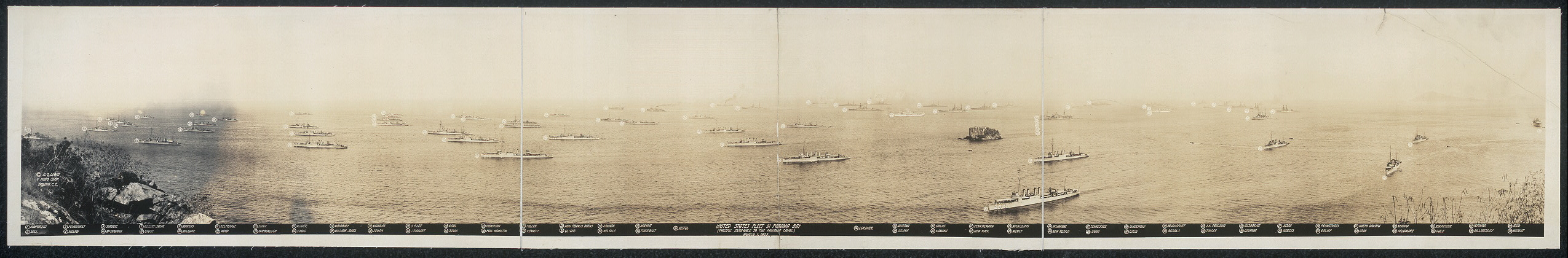 United States fleet in Panama Bay (Pacific entrance to the Panama Canal), March 1, 1923