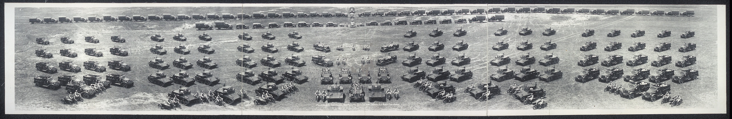 13th U.S. Cavalry Mechanized, Fort Knox, Ky., June 16th, 1938, Col. C.L. Scott command'g.